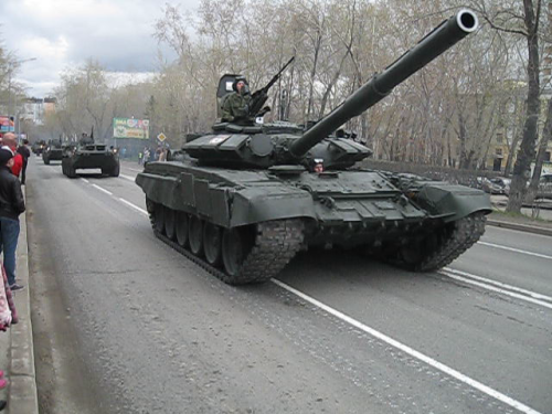 Russian tanks on parade. Source: Niles Wimber